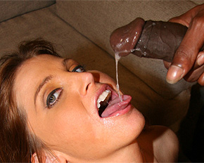 Wife Swallows Black Cum